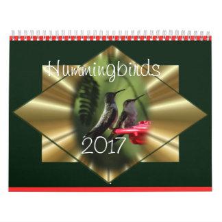 ハチドリのカレンダー2017年-必要とされるに応じて年を変えて下さい カレンダー