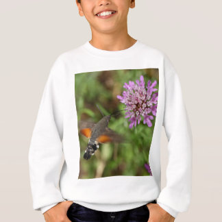 ハチドリのタカガ(Macroglossumのstellatarum) スウェットシャツ