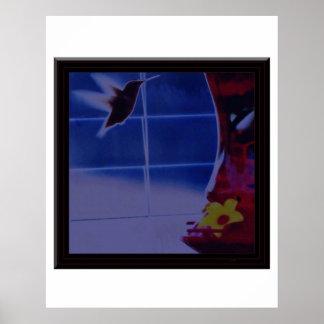 ハチドリのデジタル写真は巨大な青銅色のマットを編集します ポスター