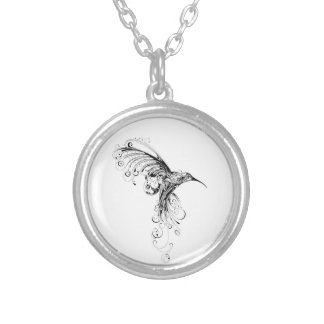 ハチドリのネックレス シルバープレートネックレス