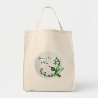 ハチドリのバッグのテンプレート トートバッグ