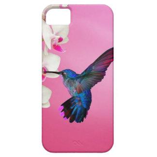 ハチドリのピンクの背景 iPhone SE/5/5s ケース
