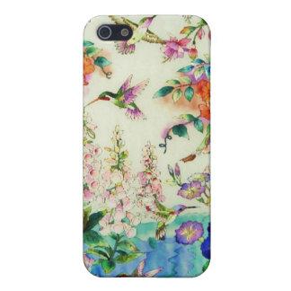 ハチドリのピンクの花のiPhoneの場合WOW iPhone 5 カバー