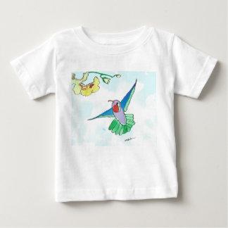 ハチドリのベビーの罰金のジャージーのカラフルなTシャツ ベビーTシャツ