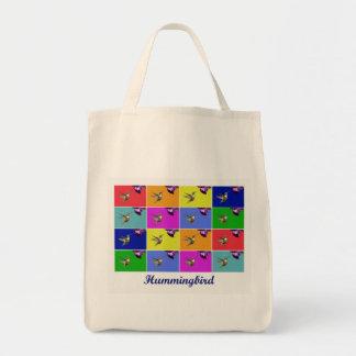 ハチドリのポップアートのバッグ トートバッグ