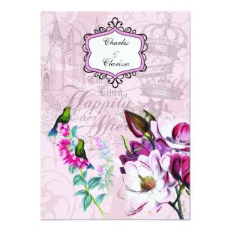 ハチドリのマグノリア5x7の結婚式招待状 カード