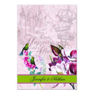 ハチドリのマグノリアRSVPカード カード