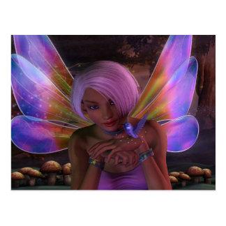 ハチドリの保護者の妖精のファンタジーの芸術 ポストカード