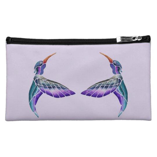 ハチドリの抽象的な水彩画 コスメティックバッグ