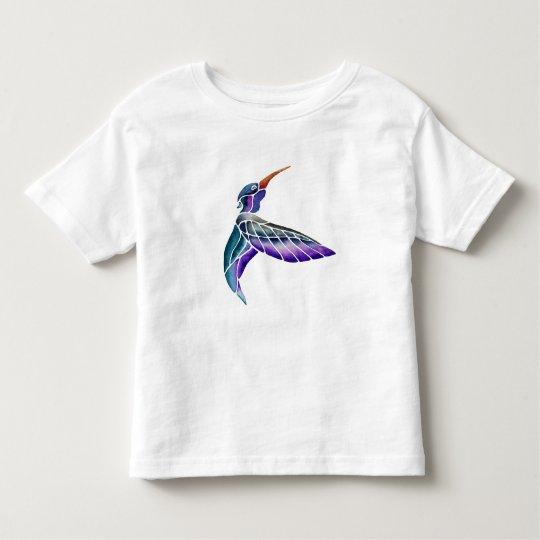ハチドリの抽象的な水彩画 トドラーTシャツ