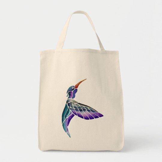 ハチドリの抽象的な水彩画 トートバッグ