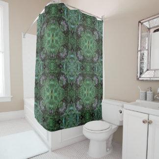 ハチドリの曼荼羅のシャワー・カーテン シャワーカーテン