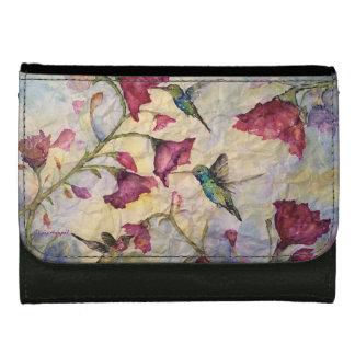 ハチドリの水彩画の芸術の財布 ウォレット