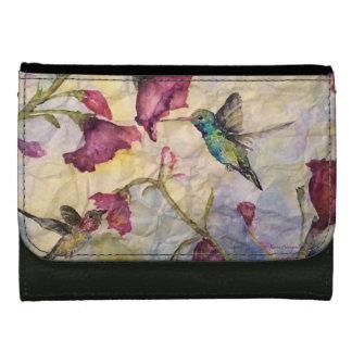 ハチドリの花の元の芸術の財布 ウォレット