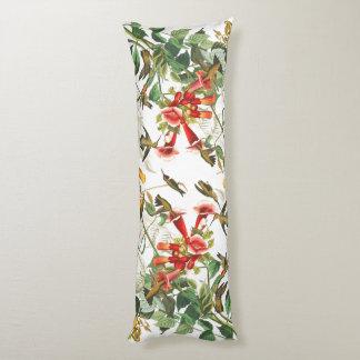 ハチドリの花の花のAudubonの抱き枕 ボディピロー