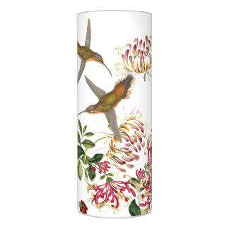 ハチドリの鳥のハニーサックルの花の花柄 LEDキャンドル
