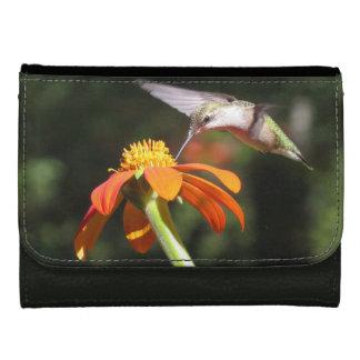 ハチドリの鳥のヒマワリの花の花柄の庭 ウォレット