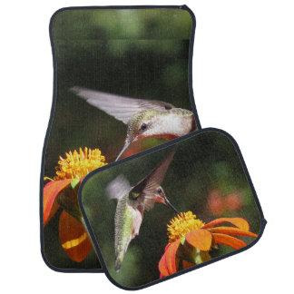 ハチドリの鳥のヒマワリの花の花柄の庭 カーマット