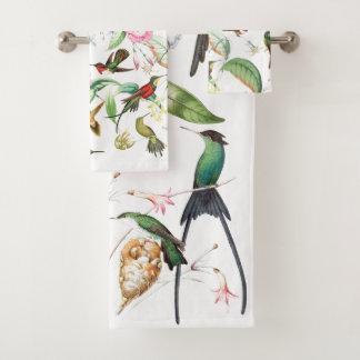 ハチドリの鳥の天国のBathタオルセット バスタオルセット
