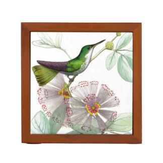 ハチドリの鳥の花の花の机のオルガナイザー ペンスタンド
