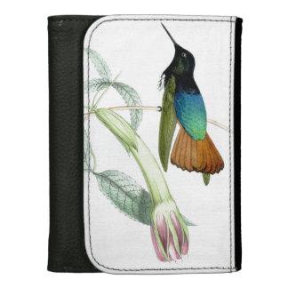 ハチドリの鳥の花の花の野性生物動物 ウォレット