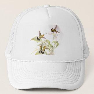 ハチドリの鳥の花の花の野性生物動物 キャップ