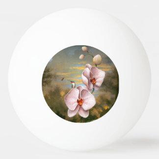 ハチドリの鳥の花の花の野性生物動物 ピンポンボール