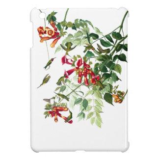 ハチドリの鳥の花の花の野性生物動物 iPad MINI カバー