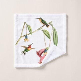 ハチドリの鳥の花のWashclothタオル ウォッシュタオル
