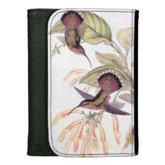 ハチドリの鳥の花花動物の野性生物 ウォレット