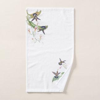 ハチドリの鳥の蘭の花のBathタオルセット バスタオルセット