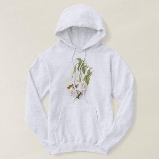 ハチドリの鳥の野性生物によってはスエットシャツが開花します パーカ