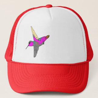 ハチドリの鳥の野性生物動物の花柄 キャップ