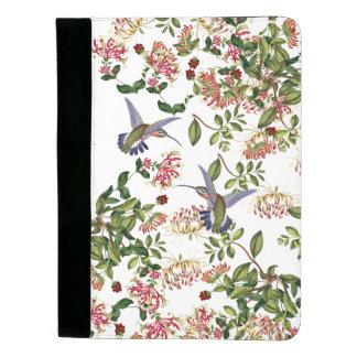 ハチドリの鳥及びハニーサックルの花Padfolio パッドフォリオ