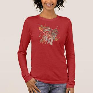 ハチドリのAudubonのルビー色のThroatedプレート47 長袖Tシャツ