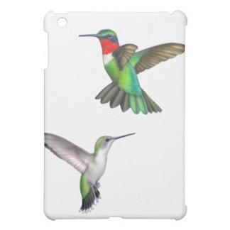 ハチドリのSpeckの飛んでいるなルビー色のThroated場合 iPad Miniケース