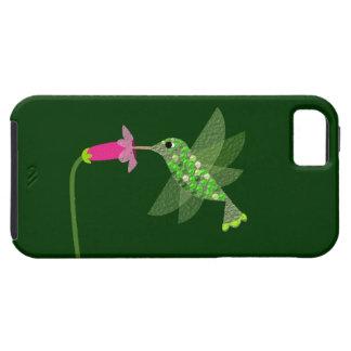 ハチドリ及びピンクの花 iPhone SE/5/5s ケース