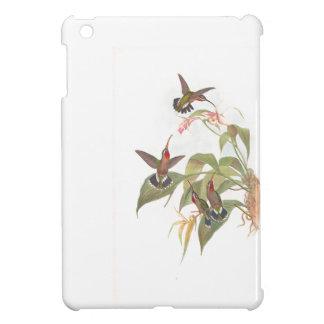 ハチドリ及び花のiPad Miniケース iPad Miniケース