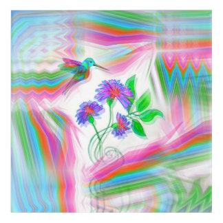 ハチドリ飛行万華鏡のように千変万化するパターン アクリルウォールアート