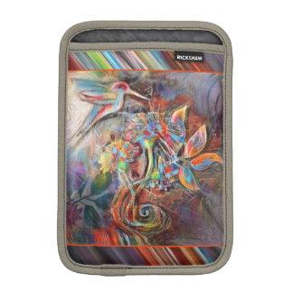 ハチドリ飛行柔らかいパステルの芸術 iPad MINIスリーブ