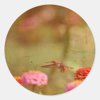 ハチドリ飛行 ラウンドシール