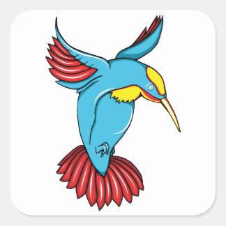 ハチドリ2の~のヴィンテージの40年代は鳥の芸術を入れ墨します スクエアシール