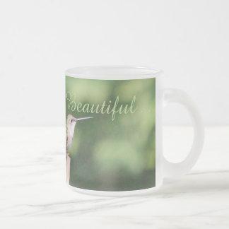 ハチドリ フロストグラスマグカップ