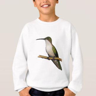 ハチドリ: 芸術: 混合メディア: 野性生物 スウェットシャツ