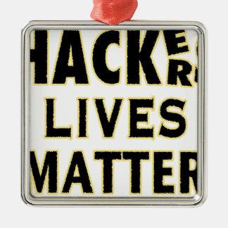 ハッカーの生命問題(YaWNMoWeR) メタルオーナメント