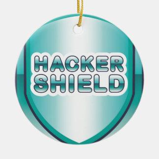 ハッカーの盾 セラミックオーナメント