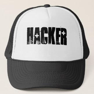 ハッカー(黒いプリントか白い帽子) キャップ