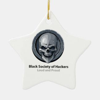 ハッカー(BSH)のロゴプロダクトの黒い社会 セラミックオーナメント