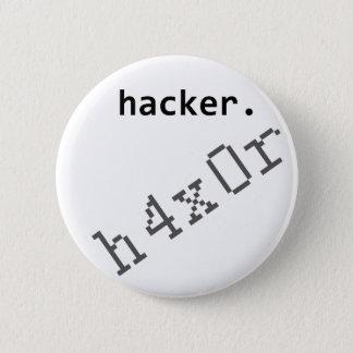 ハッカーh4x0r 5.7cm 丸型バッジ
