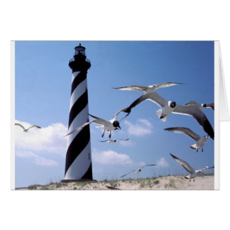 ハッテラス岬の灯台ノースカロライナの灯台 カード